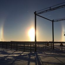 Double Sundogs on a cold winter's day
